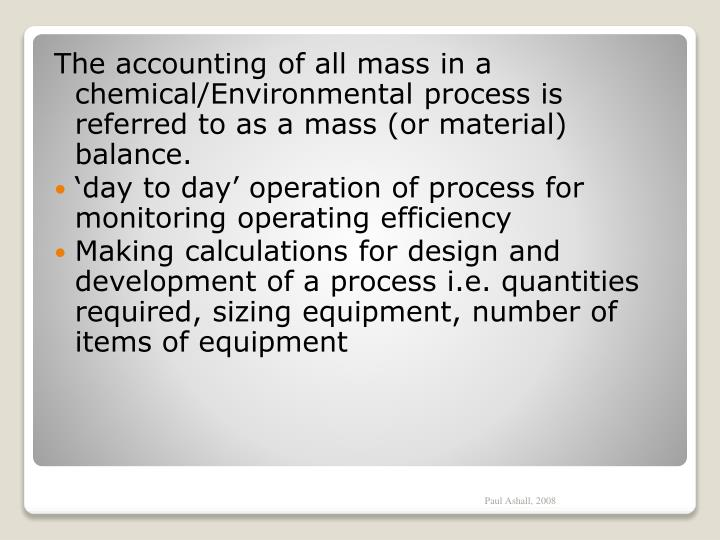 The accounting of all mass in a