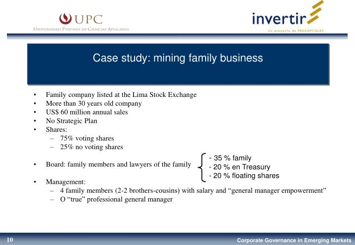 Case study: mining family business