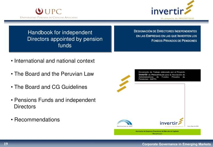 Handbook for independent