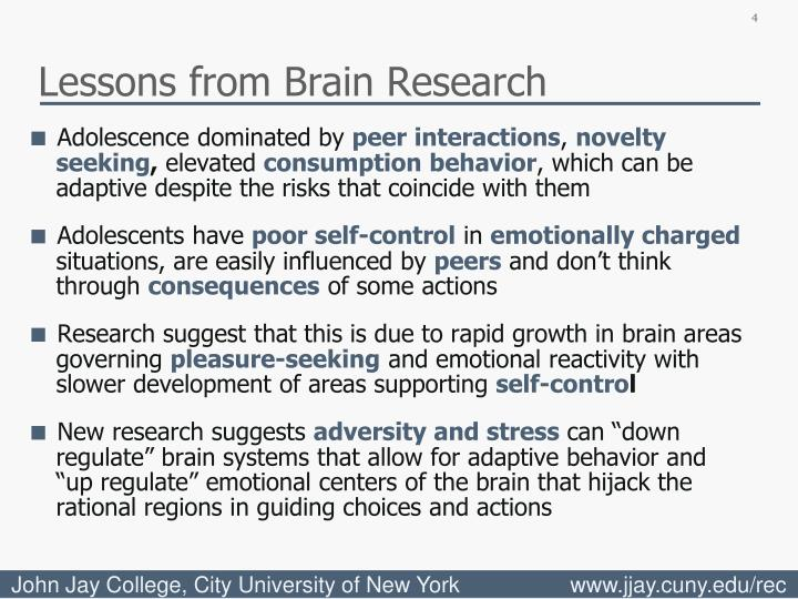 Lessons from Brain Research