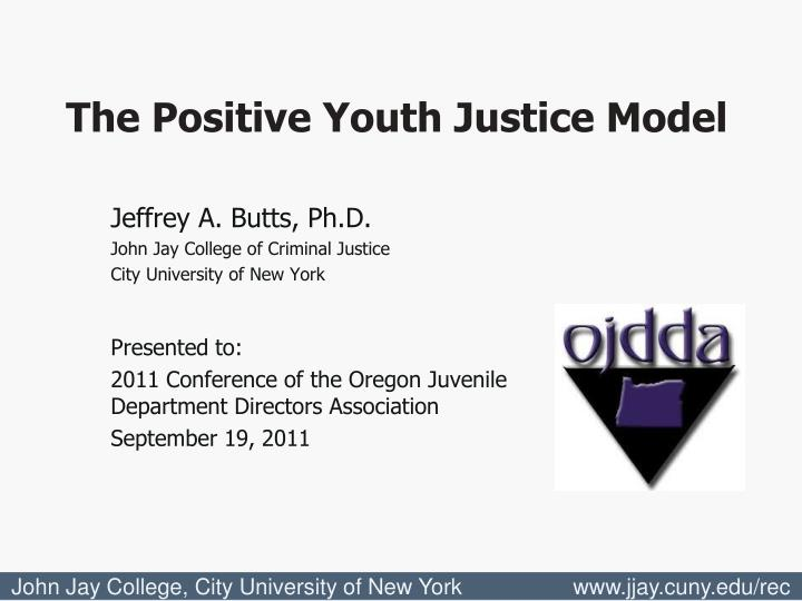 The Positive Youth Justice Model