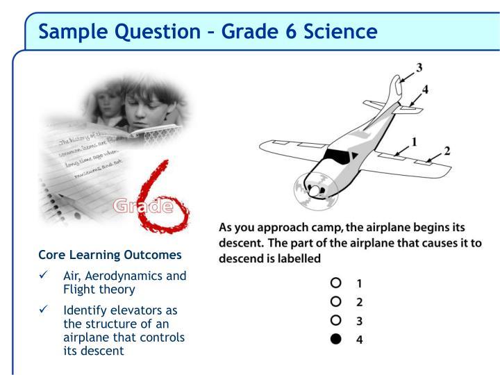 Sample Question – Grade 6 Science