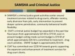 samsha and criminal justice