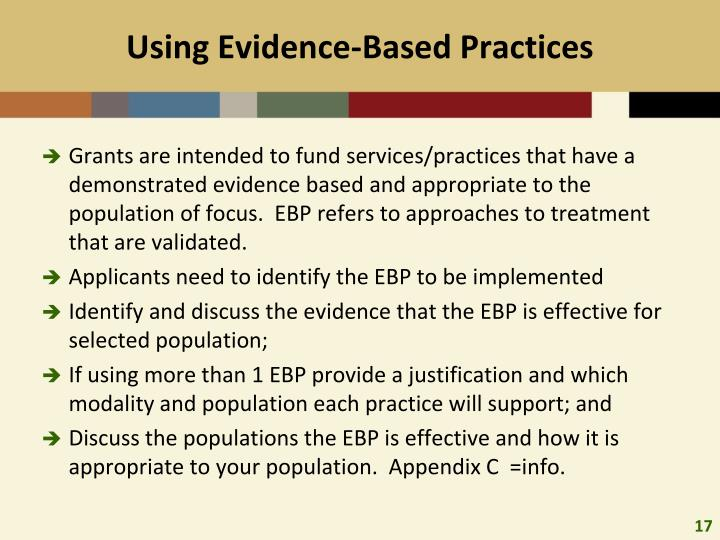 Using Evidence-Based Practices