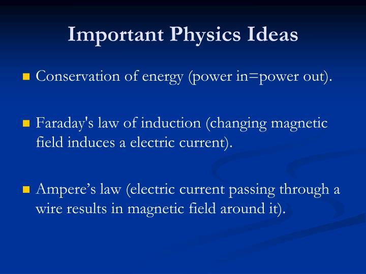 Important Physics Ideas