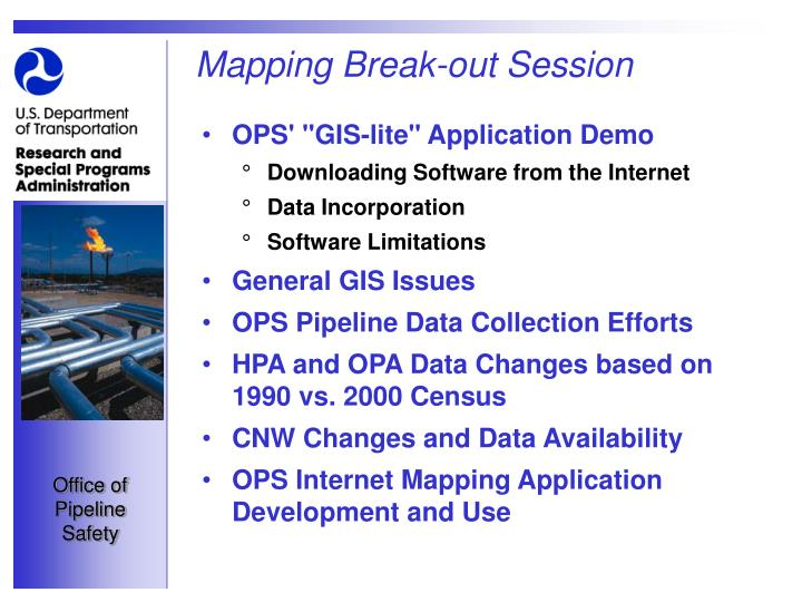 Mapping Break-out Session
