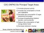 cdc dnpao six principal target areas