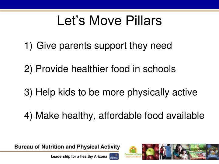 Let's Move Pillars