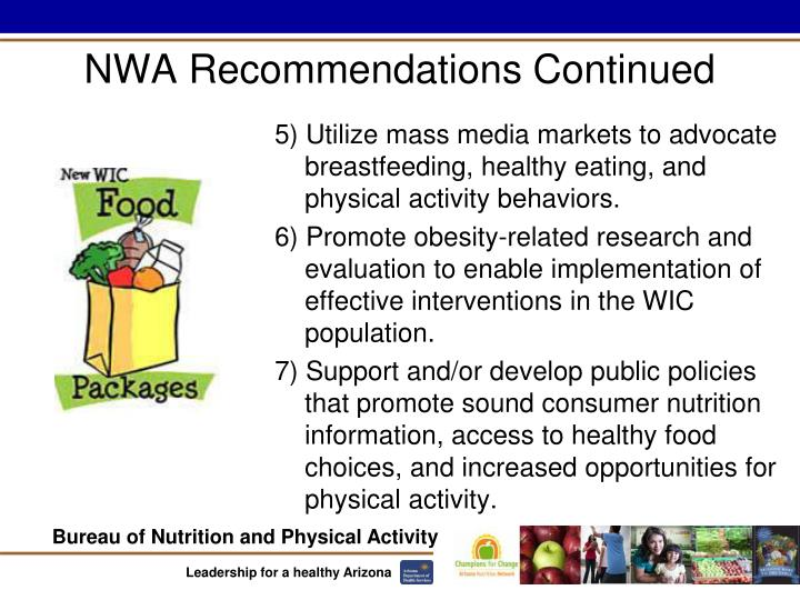 NWA Recommendations Continued