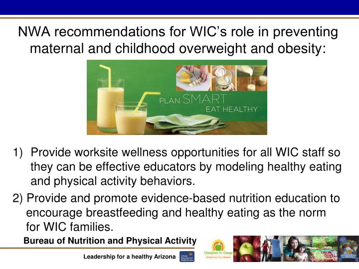 NWA recommendations for WIC's role in preventing maternal and childhood overweight and obesity: