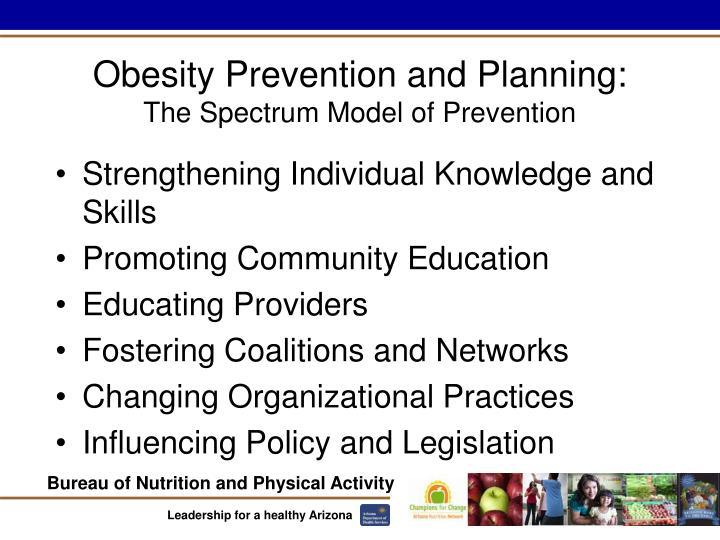 Obesity Prevention and Planning: