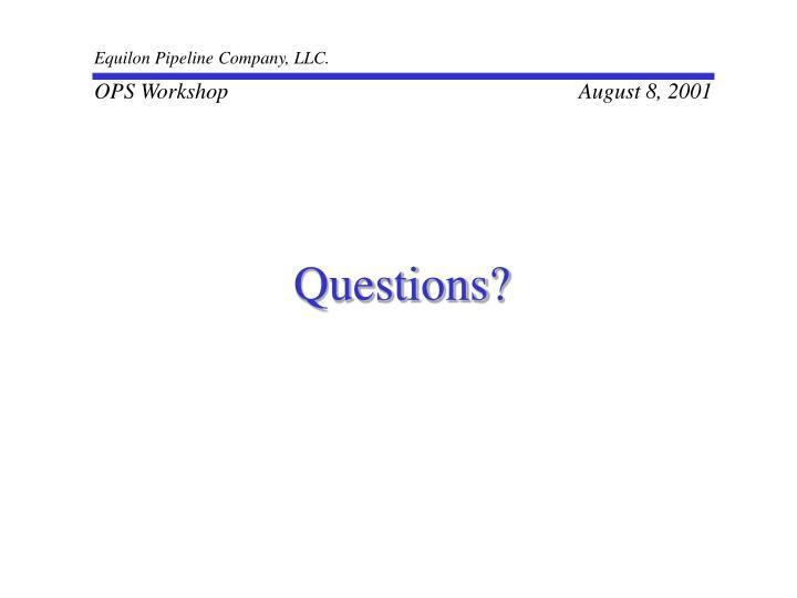 Equilon Pipeline Company, LLC.