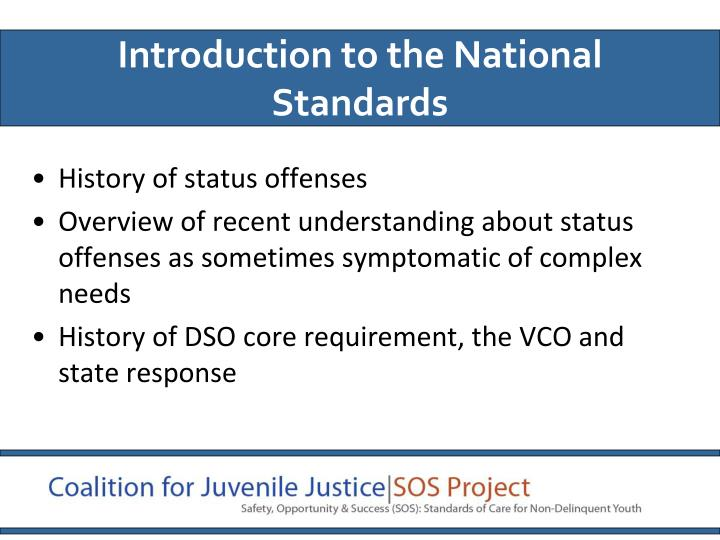 Introduction to the National Standards