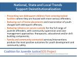 national state and local trends support deinstitutionalization