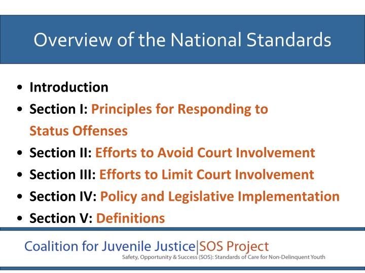 Overview of the National Standards