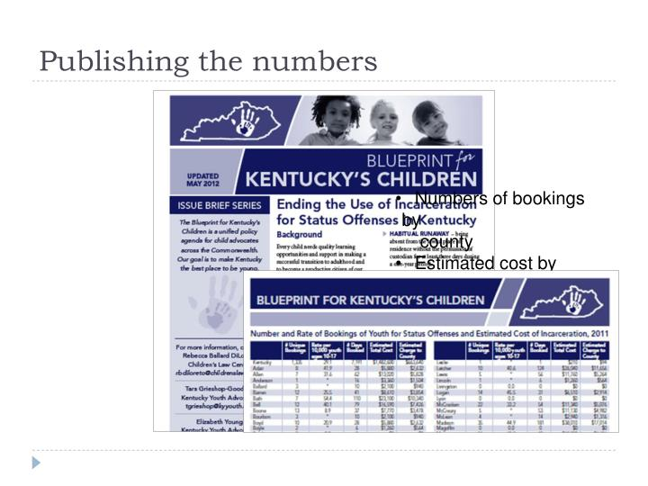 Publishing the numbers
