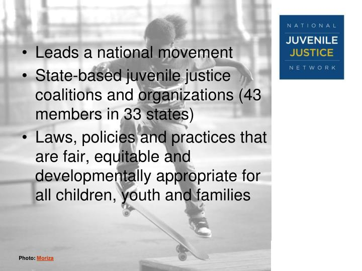 Leads a national movement