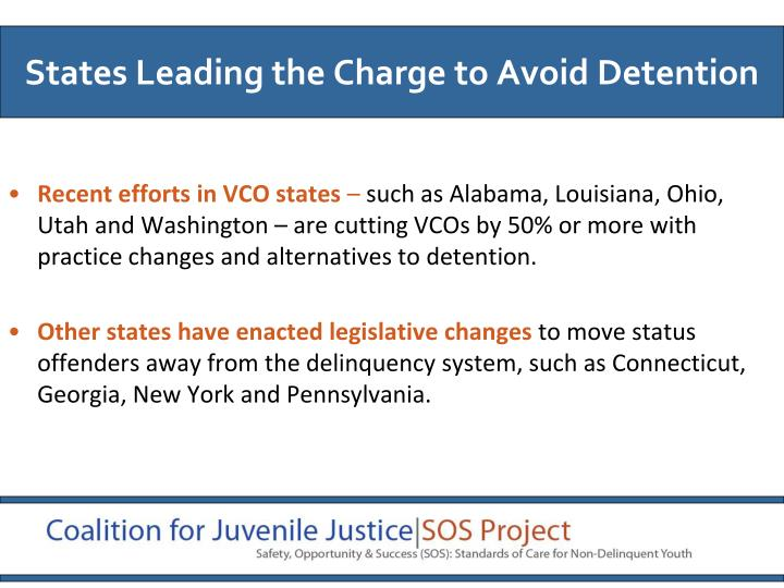 Recent efforts in VCO states