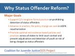 why status offender reform