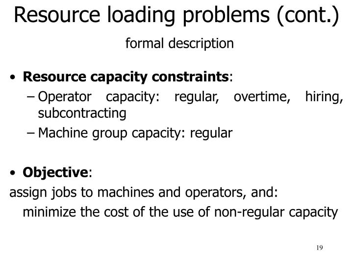 Resource loading problems (cont.)
