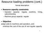 resource loading problems cont formal description