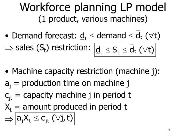 Workforce planning LP model