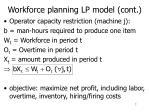 workforce planning lp model cont1