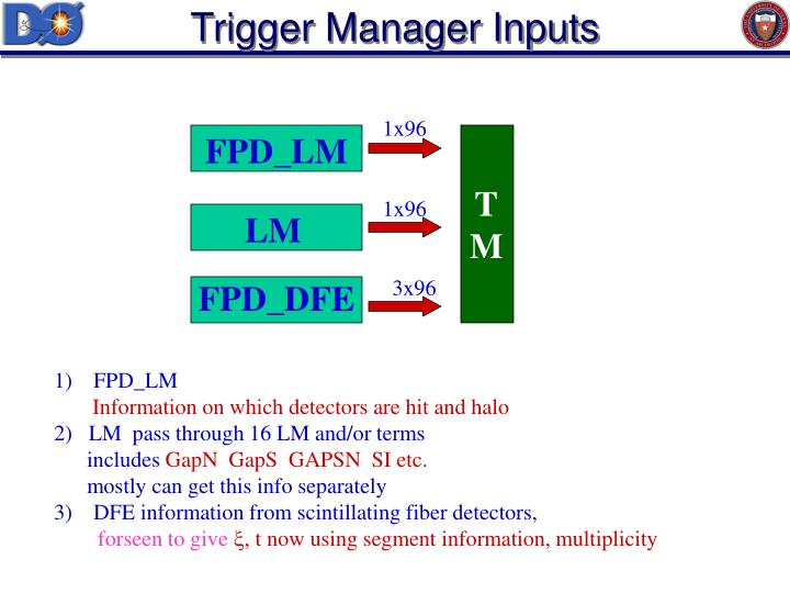 Trigger Manager Inputs