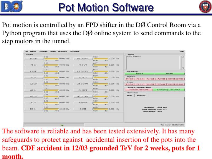 Pot Motion Software