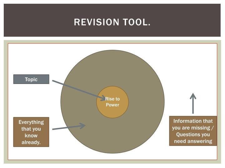Revision tool.