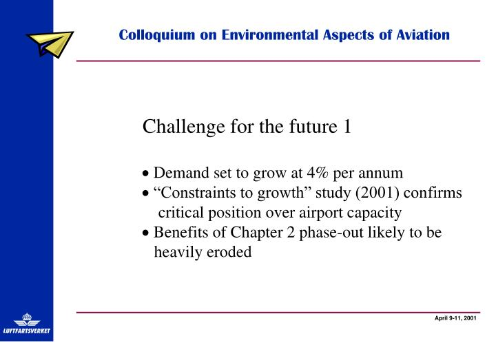Colloquium on Environmental Aspects of Aviation