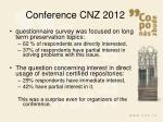 conference cnz 20122