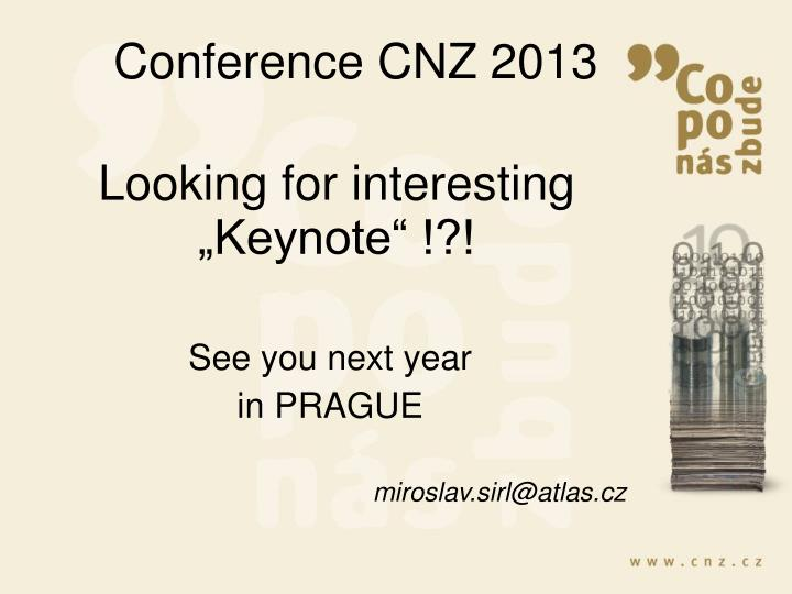 Conference CNZ 2013