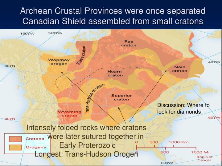 Archean Crustal Provinces were once separated