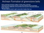 archean formation of greenstone belts