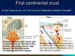 first continental crust