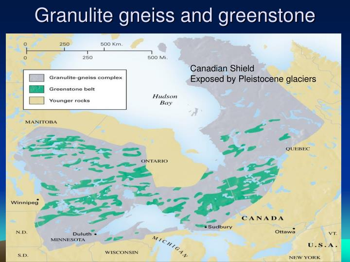 Granulite gneiss and greenstone