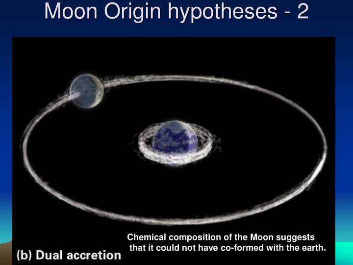Moon Origin hypotheses - 2