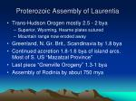 proterozoic assembly of laurentia