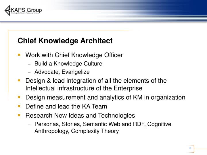 Chief Knowledge Architect