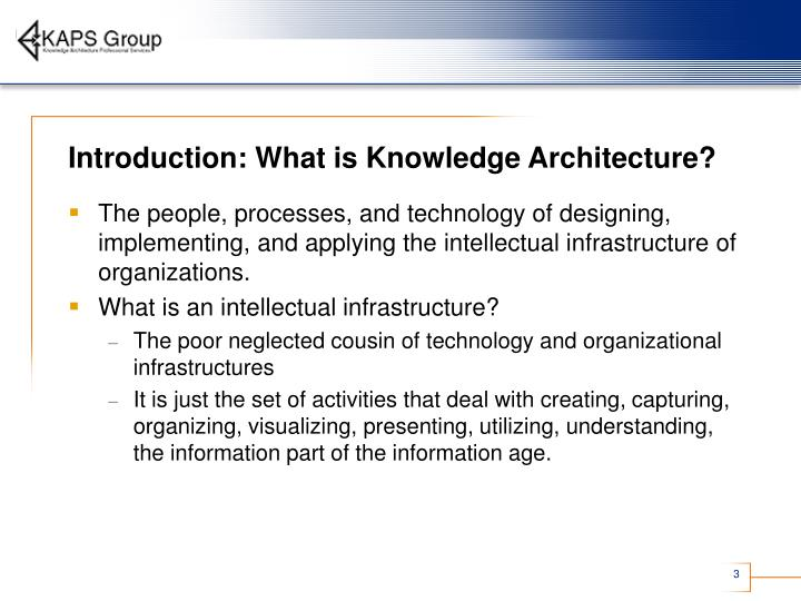 Introduction what is knowledge architecture