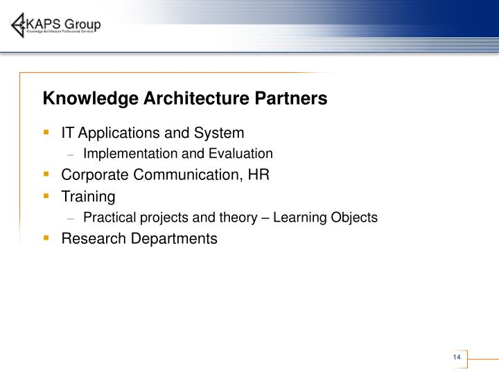Knowledge Architecture Partners