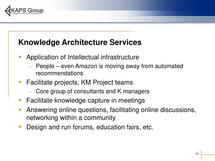 Knowledge Architecture Services