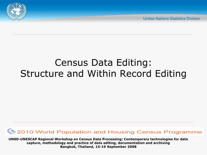 census data editing structure and within record editing