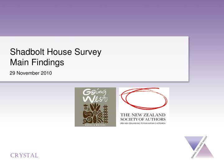 shadbolt house survey main findings