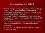 reorganization and rebirth1