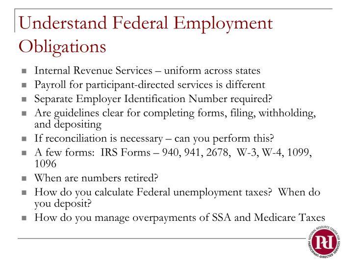 Understand Federal Employment Obligations