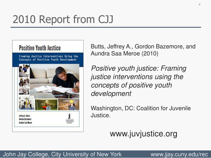 2010 Report from CJJ