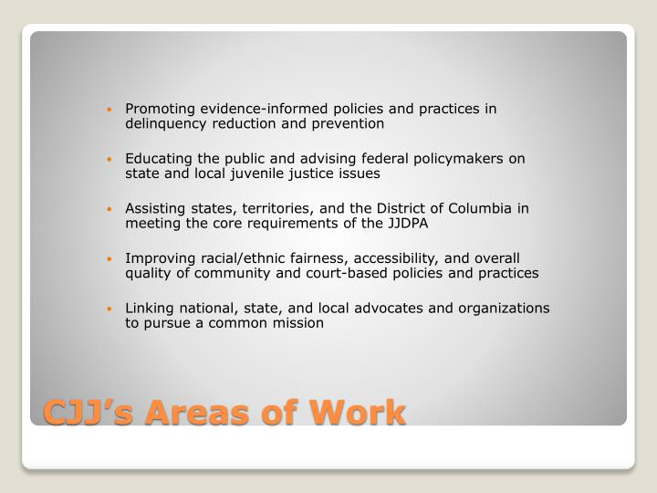 Promoting evidence-informed policies and practices in delinquency reduction and prevention
