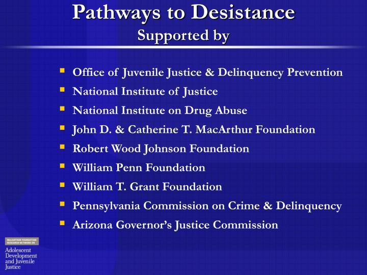 Pathways to Desistance